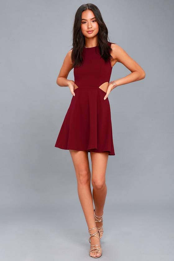 e7d07300ebb Chic Party Dress - Skater Dress - Cutout Dress - Short Dress