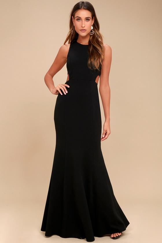 Stunning Black Maxi Dress Cutout Dress Sleeveless Dress