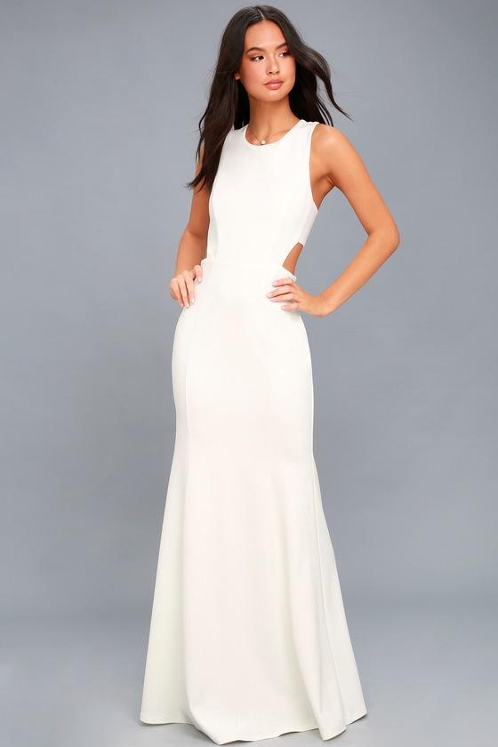 White short long dresses