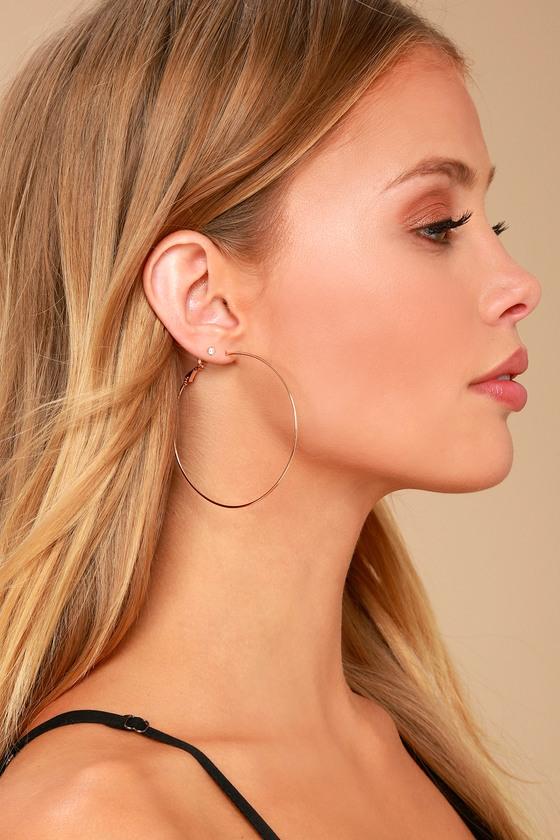 Radiant Days Rose Gold Hoop Earrings 1