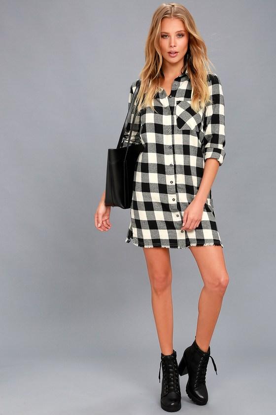 Flannel Shirt Maxi Dress