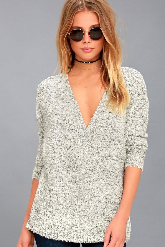 Cozy Dreams Grey Wrap Sweater 1