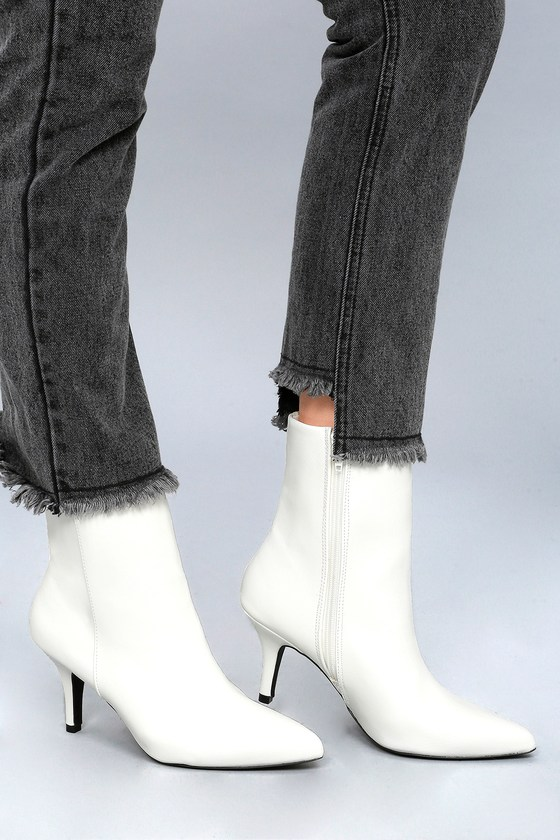 Retro Boots, Granny Boots, 70s Boots East Village Red Mid-Calf Boots $42.00 AT vintagedancer.com