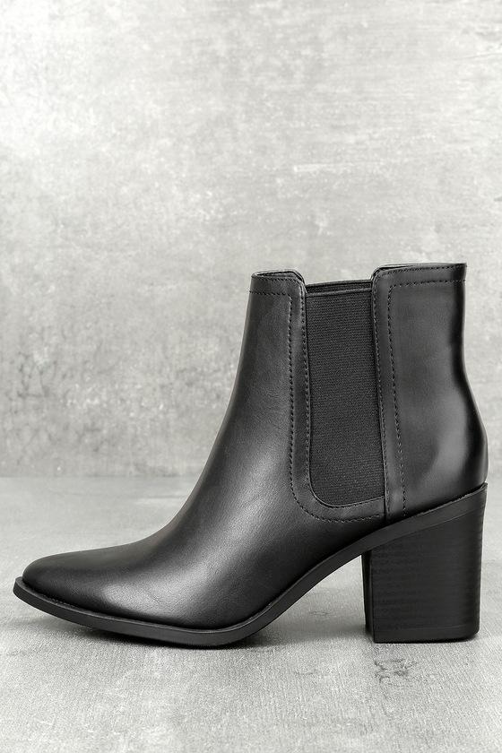 Tatum Black Ankle Booties 1