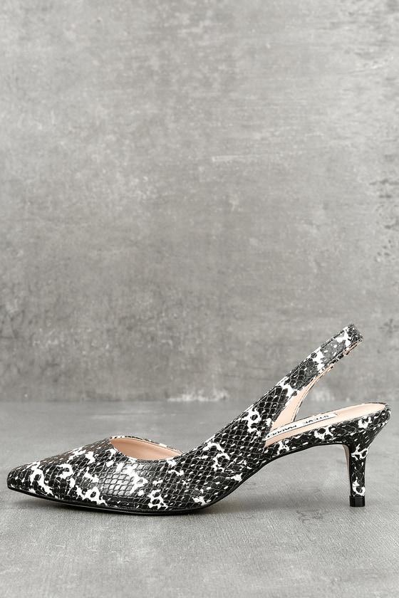 2a51464dbd7 Steve Madden Vera - Kitten Heels - Snake Print Heels