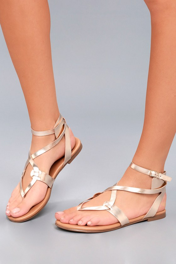 a578466802c9 Cool Gold Sandals - Thong Sandals - Gladiator Sandals -  19.00