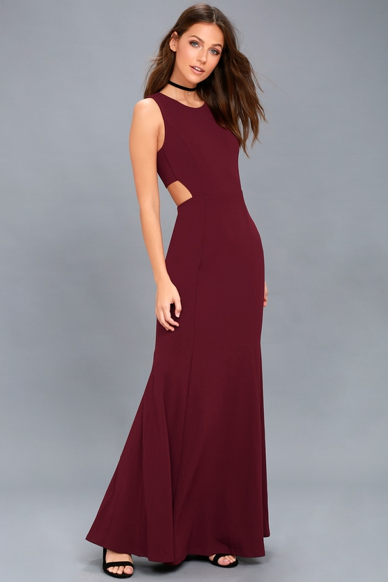 2373425ce Stunning Burgundy Maxi Dress - Sleeveless Dress
