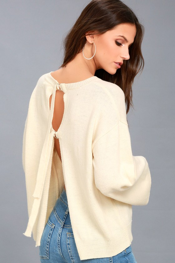 Maurice Cream Sweater Top 2