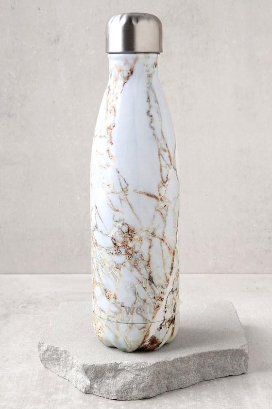 S Well Calacutta Gold Reusable Bottle Water Bottle