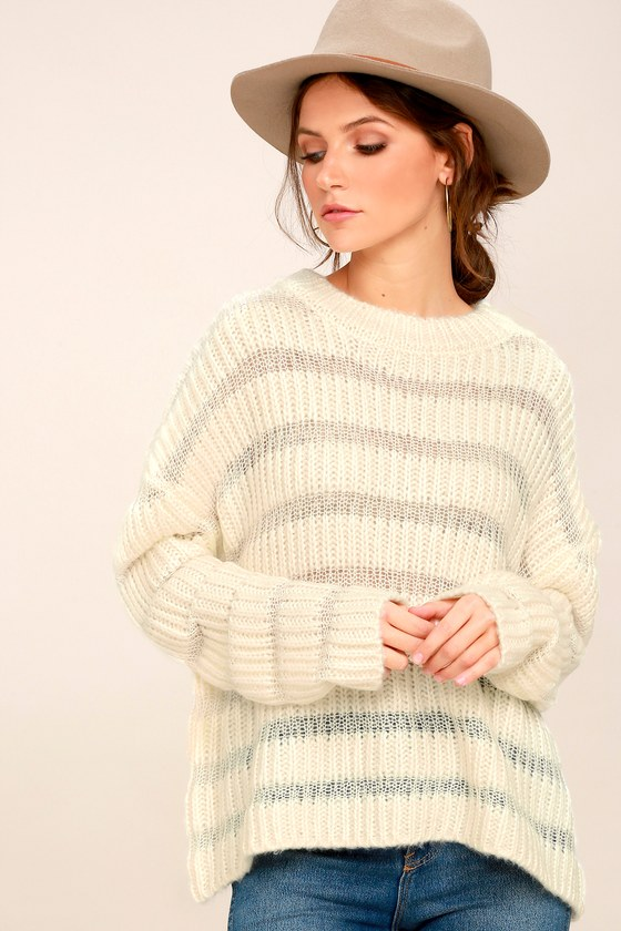 ebcb64e36353 Moon River Sweater - Ribbed Knit Sweater - Cream Sweater