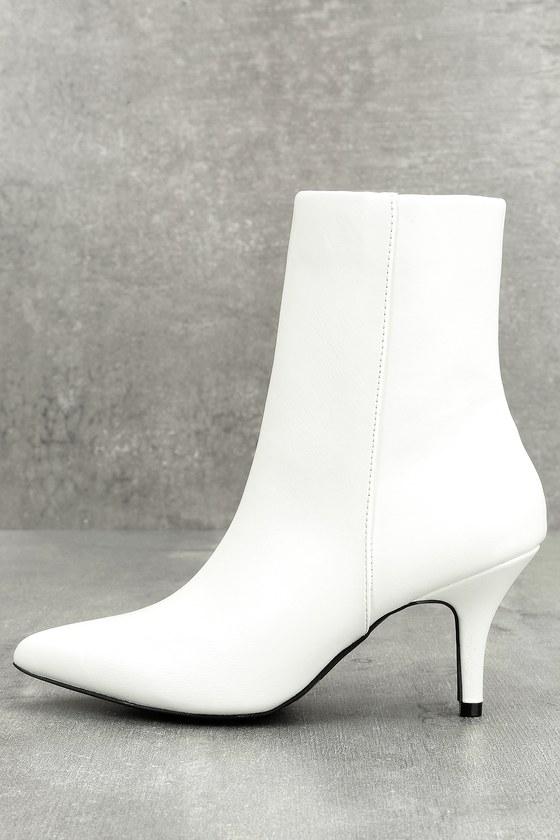 buy \u003e white leather kitten heel boots