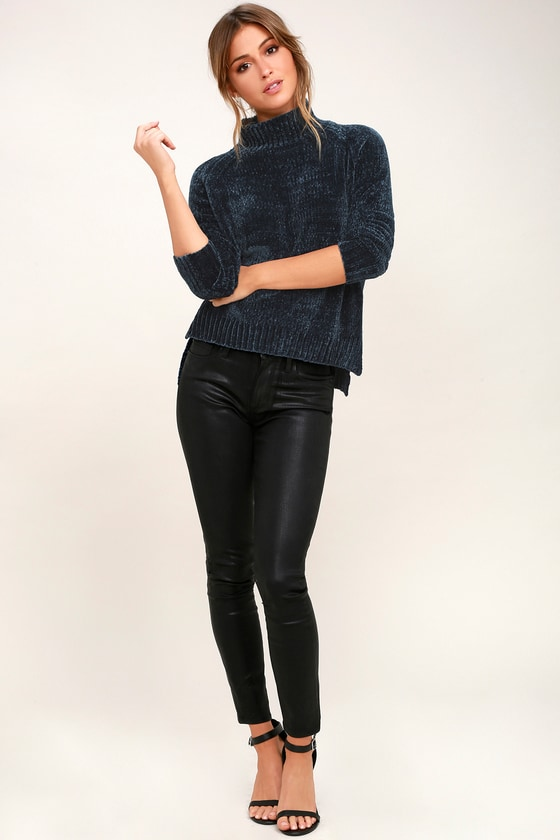 597fa7512 Lost + Wander Maya - Mock Neck Sweater - Chenille Sweater