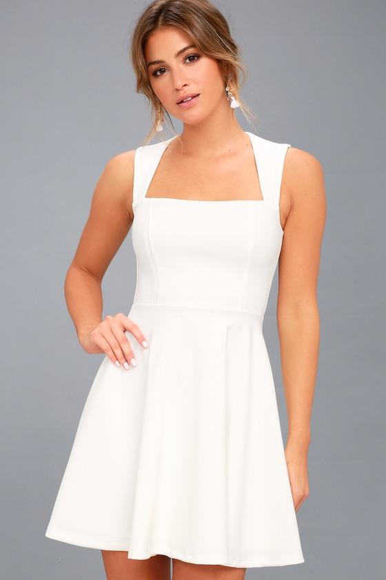Royal Court White Skater Dress 3