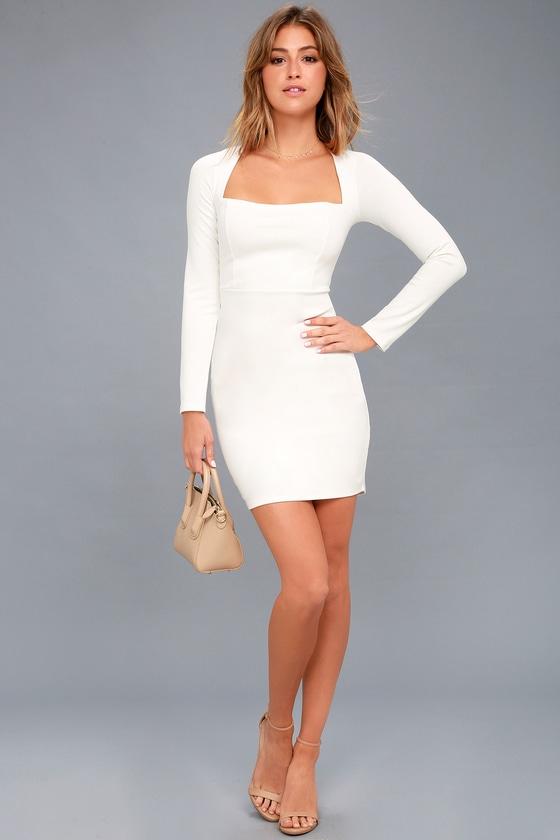 Bodycon dress long sleeve white a line dress style gap