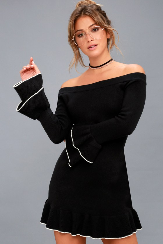 Off the Shoulder Sweater Dresses for Women