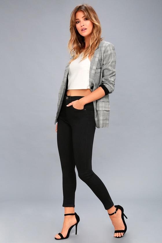 f29a6475833d3 Trace Denim Black Skinny Jeans - Black High-Waisted Jeans