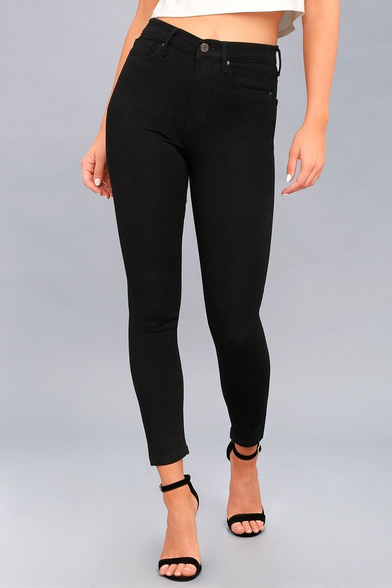 6635aa9b410 Trace Denim Black Skinny Jeans - Black High-Waisted Jeans