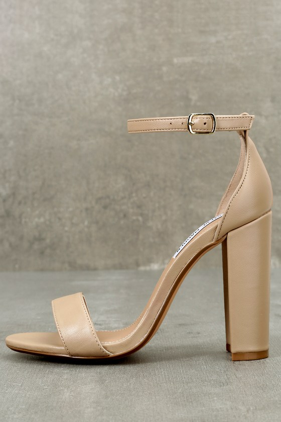 Steve Madden | Carrson Blush Nude Leather Ankle Strap Heels | Size 10 | Pink | Lulus