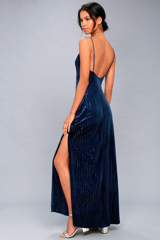 Vintage Evening Dresses and Formal Evening Gowns Studio Lounge Burgundy Velvet Sequin Maxi Dress - Lulus $24.00 AT vintagedancer.com