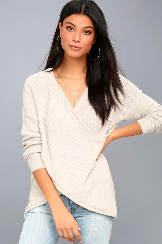 Macalister Cream Chenille Wrap Sweater 2