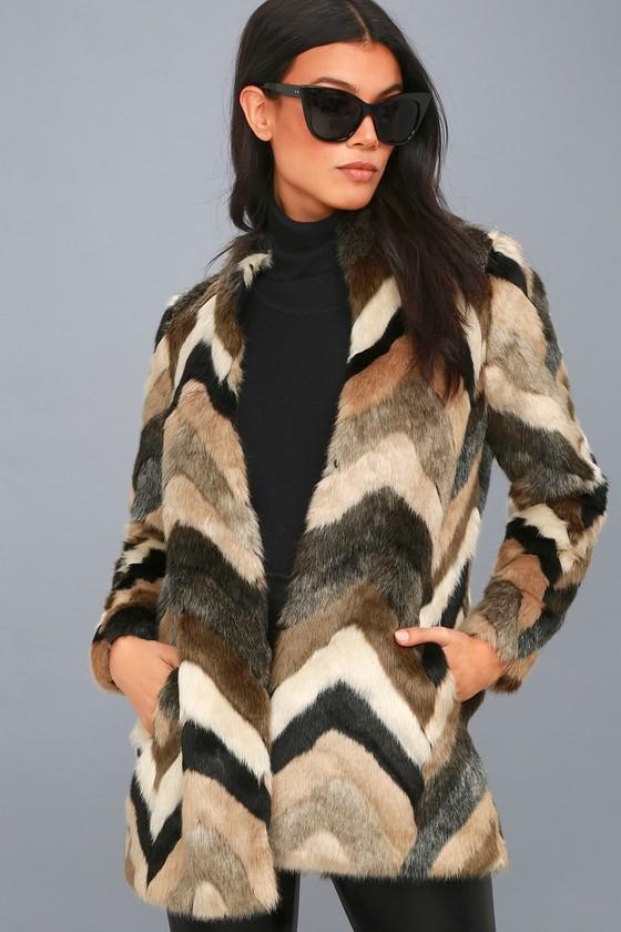 Waylon Multi Faux Fur Coat 1