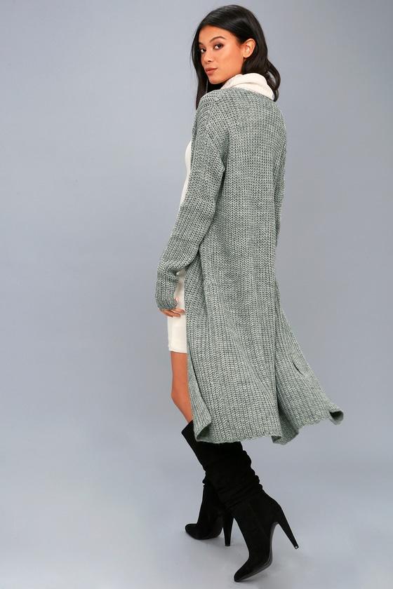 Jayce Heather Grey Knit Cardigan 1