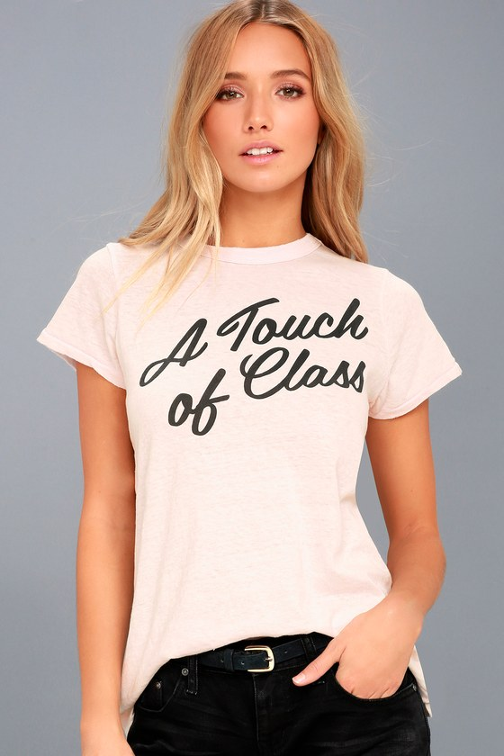 A Touch of Class Light Pink Tee 1