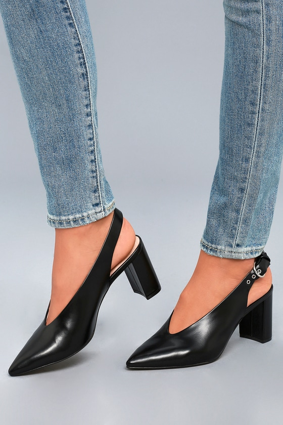 9ccf0a86e8 Chinese Laundry Obvi - Black Leather Heels - Pumps