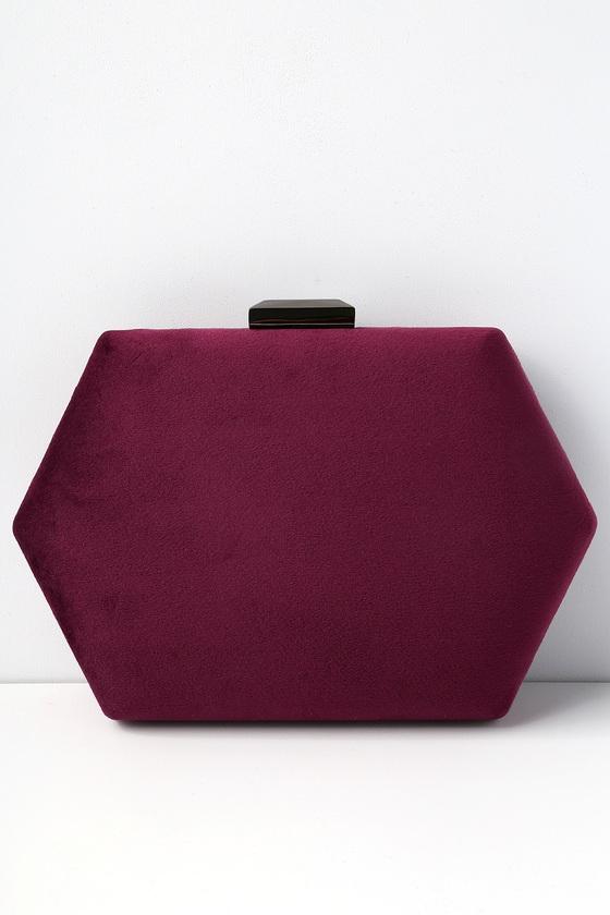 lovely design high quality guarantee on sale Audra Burgundy Velvet Clutch