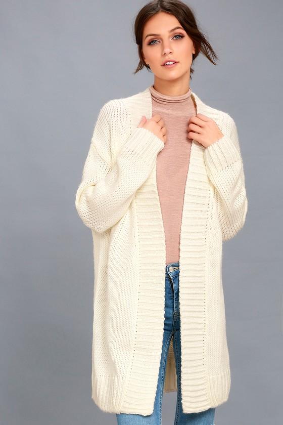 Aberdeen Cream Knit Cardigan Sweater