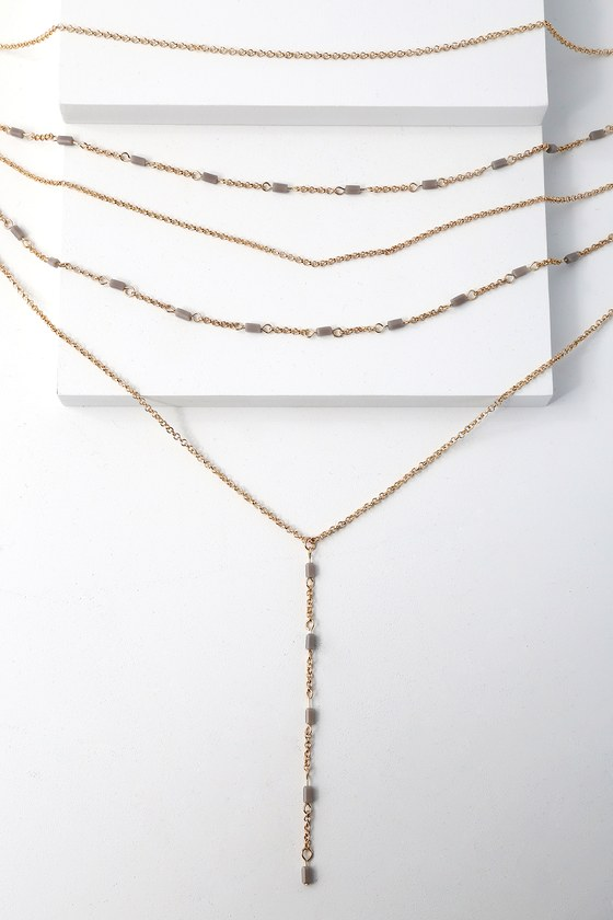 Roma Gold layered Necklace