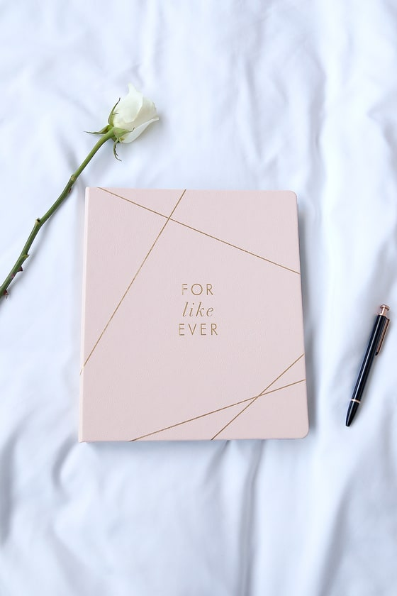 For Like Ever Gold and Blush Pink Wedding Planner 5