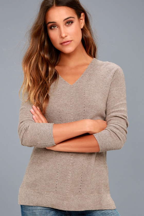 Casual Friday Taupe Sweater 1