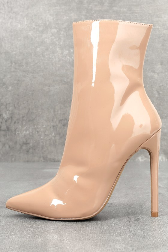 1fe2426458c2 Steve Madden Wagner - Blush Patent Mid-Calf Booties