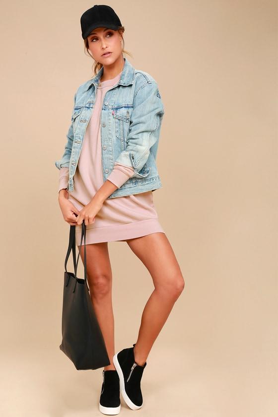 3fe87407c8 Project Social T Salty - Sweater Dress - Sweatshirt Dress