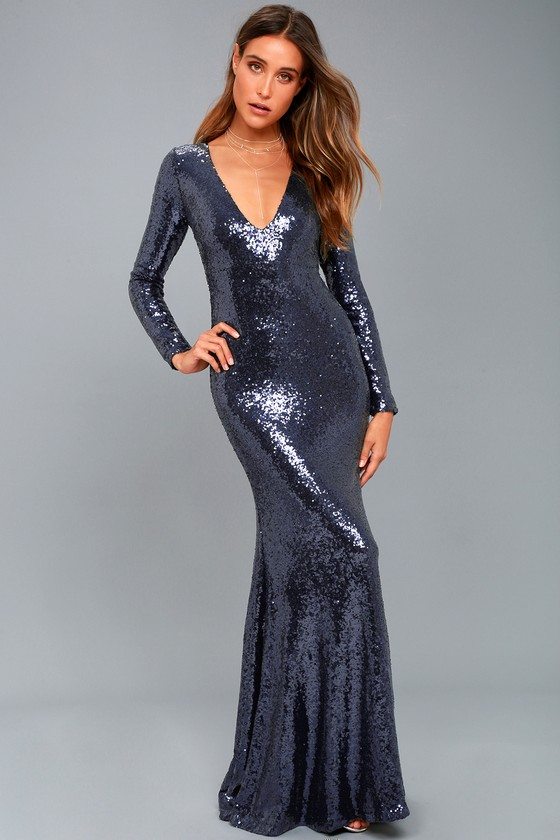 Long Sequin Maxi Dress