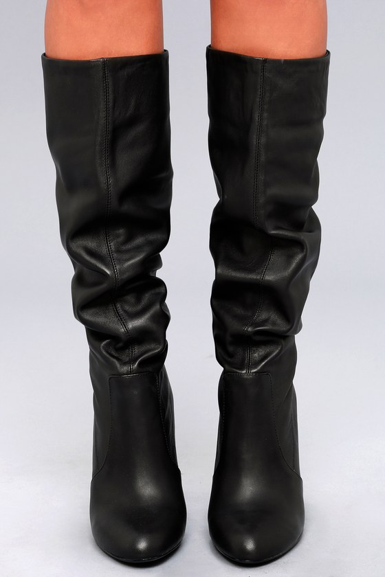a5532bc1aa9 Steve Madden Eaton Boots - Black Boots - Knee High Boots