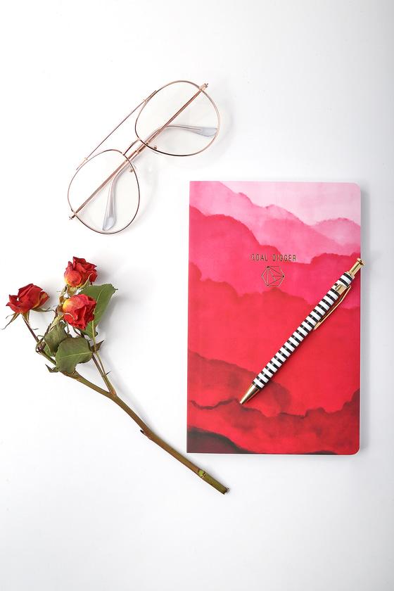 Denik Goal Digger Pink Print Layflat Lined Notebook 1