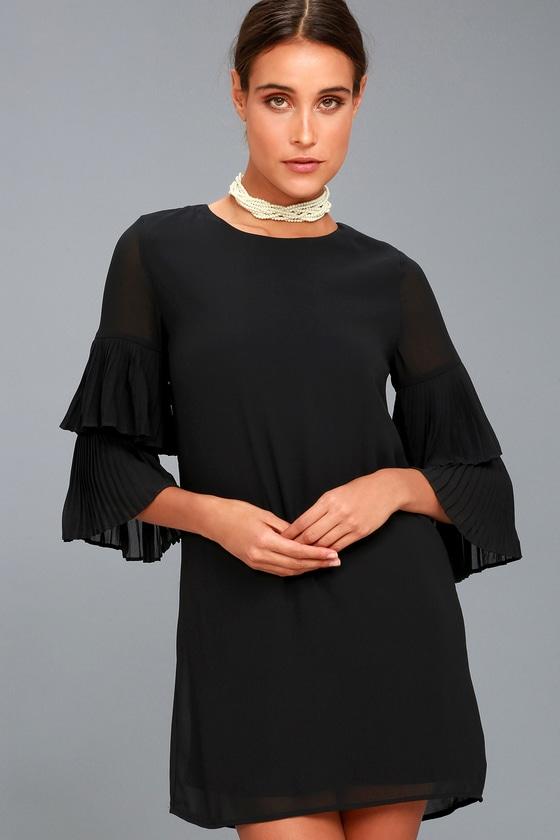 Move and Shake Black Shift Dress 1