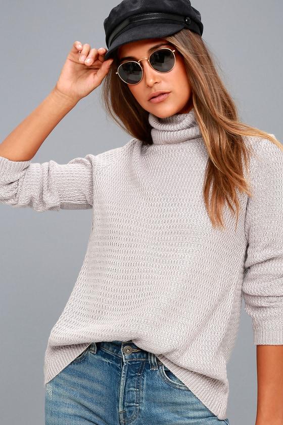 Sweet Salutation Grey Turtleneck Sweater 2