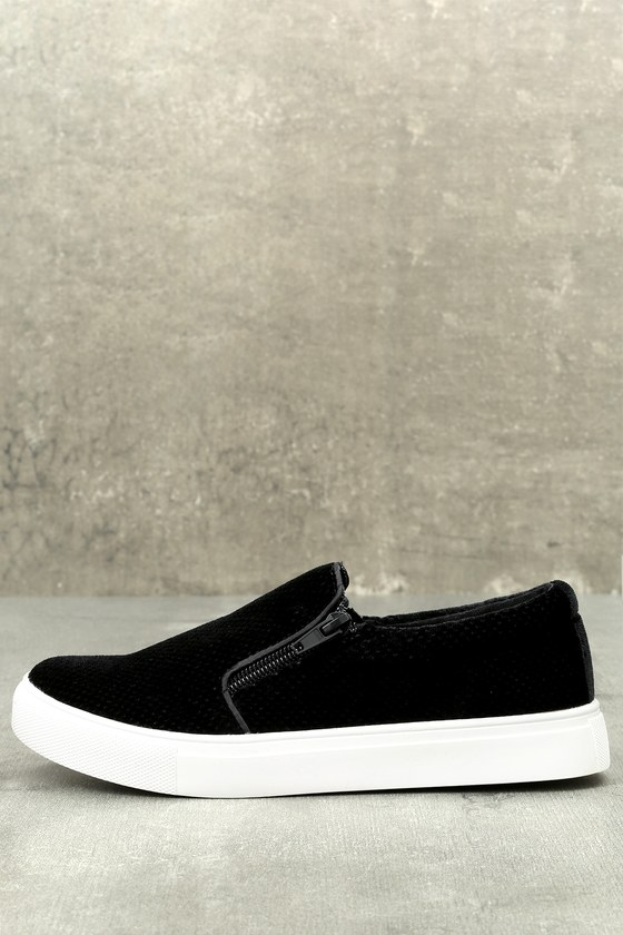 Alma Black Slip-On Sneakers