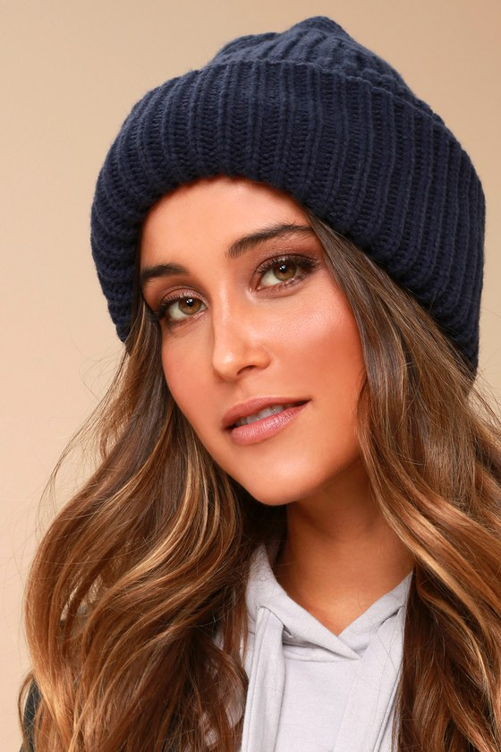 Near and Dear Navy Blue Knit Beanie