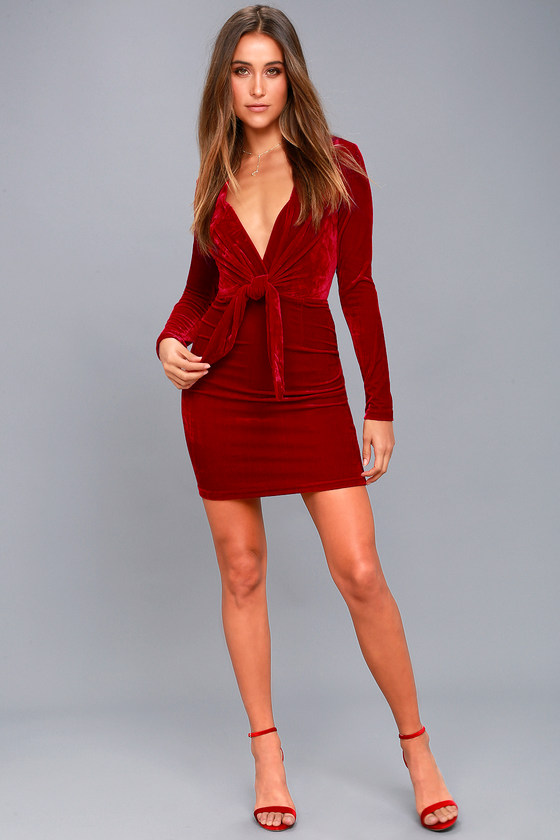 7386565ef39 MINKPINK Midnight Hour - Red Velvet Bodycon Dress