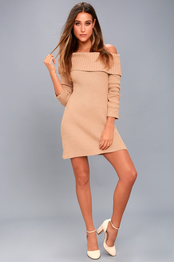 77e1534a767 Somedays Lovin  Like A Monday - Sweater Dress - Blush Dress