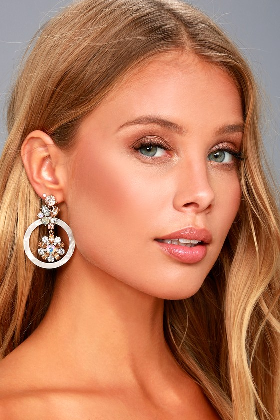 Luster and Light White Rhinestone Earrings 4