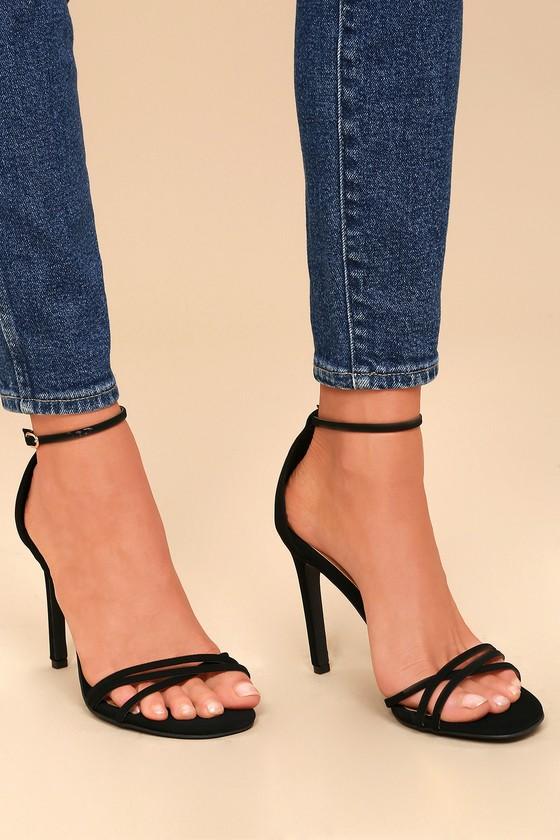 Lulus Akira Patent Ankle Strap Heels - Lulus CYv9rI