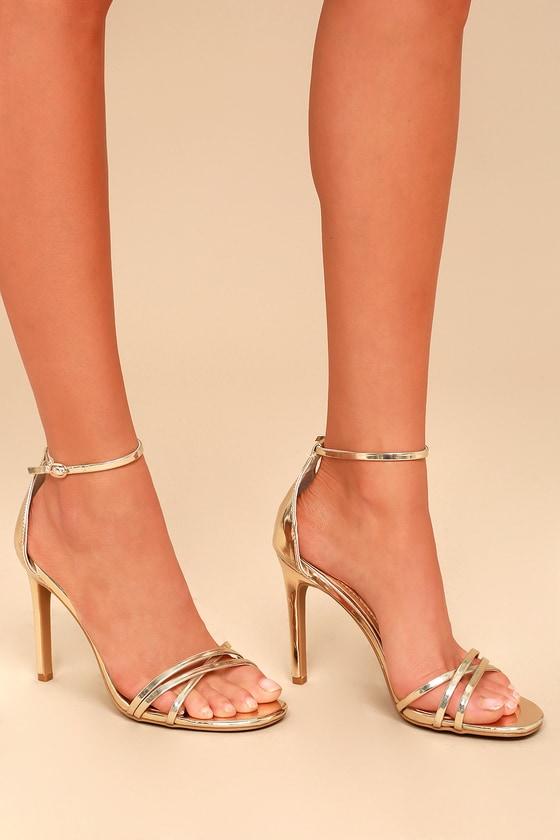 4d03606ea54 Sexy Ankle Strap Heels - Strappy Heels - Vegan Patent Heels