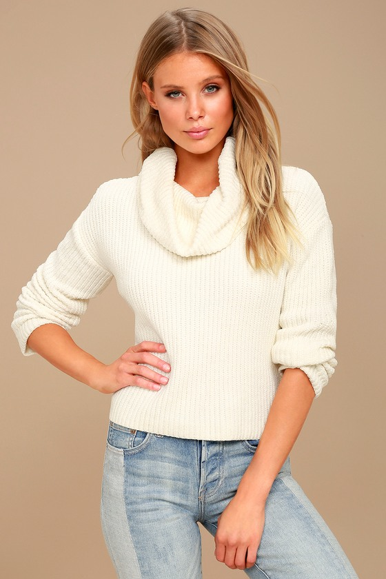 Cowl Neck Black Sweater