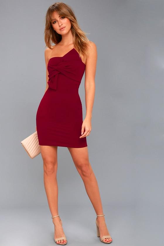 Strapless Mini Dresses
