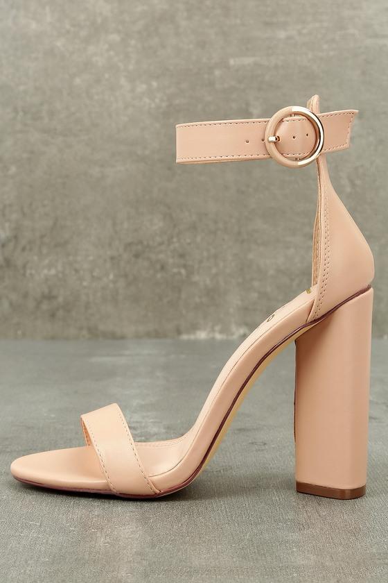 Kamali Nude Ankle Strap Heels 8